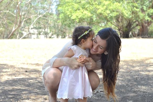 Besito mama y bebe